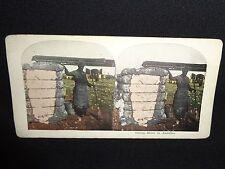 "Antique Black Americana ""Cotton Bales In Alabama"" Scene Stereo View Card"