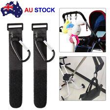 2x Pram Hook Baby Kids Stroller Hooks Shopping Bag Clip Carrier Pushchair Hanger