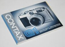 Contax G1 - Camera Instruction Manual