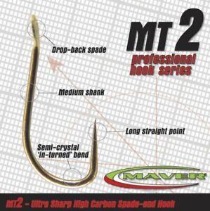 Maver Match MT2  Barbless Hooks Sizes 14, 16 or18 only Carp Coarse Hooks NEW