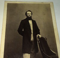 Antique Victorian American Civil War Era Fashion Handsome Young Man CDV Photo!
