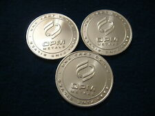 """THREE"" .999 PURE FINE SILVER ""OPM"" 1oz ROUNDS. MADE in USA -PROOF LIKE LUSTER"