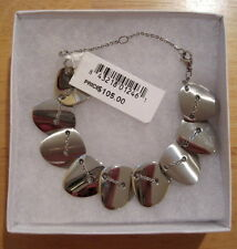 Breil Milano~Back to Stones~Silver Stainless Steel~Station Link Bracelet~$105