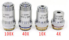 HIGH QUALITY DIN Microscop Objective for Biological Microscopes, 4 to Choose