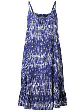 New M&S Womens ladies Navy strappy summer holiday beach sun Dress size 12