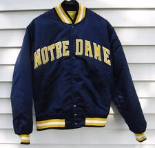 Vintage Starter Notre Dame Satin Snap Up Jacket Men's Size M