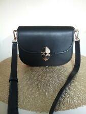 KATE SPADE NEW YORK ❤️ Lula Black Small Saddle Shoulder Crossbody Bag RRP $400