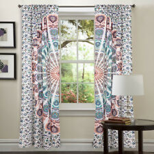 Indian Mandala Ombre Window Curtains Cotton Drape Balcony Room Decor Curtain Set