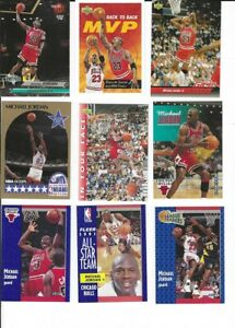 Michael Jordan Basketball Card Lot (9 Diff)