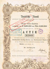 Badische Bank Mannheim 30. Dezember 1871, sehr dekorativ, VF siehe Abb.