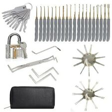 24Pcs Schloss Padlock Picking Traing Tools & 20Psc Foldable Locksmith Equipment