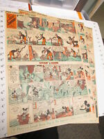 newspaper 1936 MICKEY MOUSE 3 Little Pigs (4 FULL) Sunday comic Silly Symphony