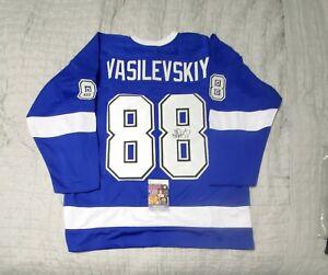 Tampa Bay Lightning ANDREI VASILEVSKIY signed custom hockey jersey JSA COA