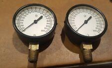 2 Vintage  Motometer Gauge LaCrosse WI. LBS per Square Inch Steampunk