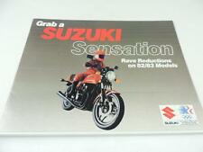 1982-83 Suzuki Sensation GS750TZ GS750TD GR650D Motorcycle Brochure L2149