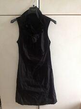 Vestito vestitino abito nero tubino M dress no liu franchi denny fix fiocco bow