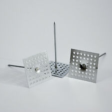 """Insulation Hangers / Impaler - 12 Ga. 4-1/2"""" Perforated Mild Steel - 200 Per Bag"""