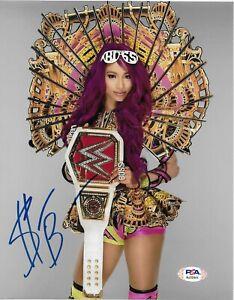 Sasha Banks WWE Diva Legit Boss Signed Autograph 8x10 Photo #3 w/ PSA COA