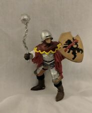 Papo Knight Medieval Fantasy Red Officer Figure With Mace and Chain Morning Star