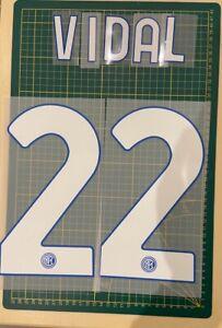 FLOCAGE VIDAL #22 Inter Milan Domicile 2020-2021 Home Nameset.