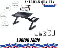 Foldable Laptop Table Tray Desk Tablet Desk Stand Bed Sofa CouchW/Cooling Great