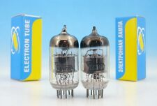 2x 6N1P 6Н1П Electrically MATCHED Voskhod 1962 Military <> GOLD GRID TUBE PAIR