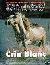 Coupure de Presse Clipping 1997 (12 pages) Camargue Le cheval Crin Blanc