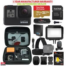 GoPro USA Hero 7 Black Camera, GoPro Head Mount, Case, Sandisk 32GB MicroSD Kit
