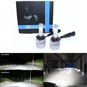Pair 72W 12000LM 9006 HB4 Xenon White 6000K Light Car Headlight Globes Bulb LED