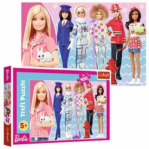 Trefl 100 Piece Kids Large Mattel Barbie You Can Be What You Want Jigsaw Puzzle