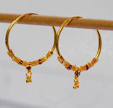 Gold Plated large Hoop Earrings.30mm gold earring