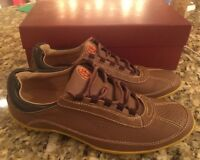 Donald J. Pliner Far 11.5 Mens Nubuck Leather Lace Up Fashion Sneaker Shoes $195