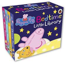 Peppa Pig Bedtime Book Pre-School Children Pocket Story Kids Mini Library Books