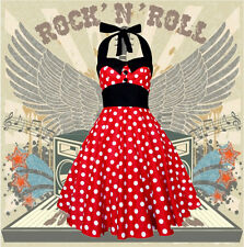 ROCKABILLY DOT RETRO GOTHIC PETTICOAT Gr. 44-46 rot Geschenk reduziert