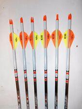 6 Easton Aftermath 340 Carbon Arrows! Dip/Crest/Blazer Vanes! CUT TO LENGTH!