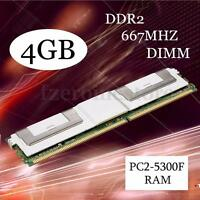 4GB DDR2 PC- 5300F 667Mhz DIMM 240-Pin ECC memoria RAM Servidor For DESKTOP
