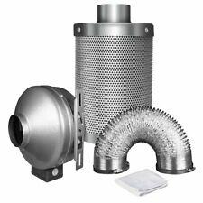 """iPower 4 Inch 190 CFM Duct Inline Fan with 4"""" Carbon Filter 8 Feet Ducting Combo"""