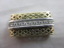 Collana in oro 9k Diamante Braccialetto Fibbia Vintage 1998 inglese Hallmark. tbj03740