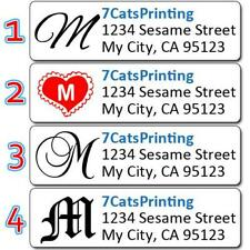 80 Monogram Return Address Labels Personalized Custom Printed