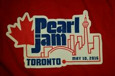 Pearl Jam T-Shirt Toronto, CANADA May 10 2016  XL Brand New Unworn Unwashed