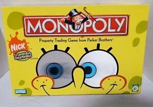 Monopoly Nickelodeon SpongeBob SquarePants Board Game missing squidward pawn.