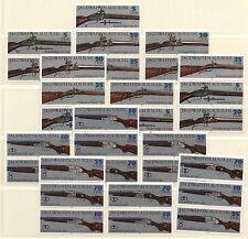 DDR MiNr. 2376-2381 (Jagdwaffen) kpl. Zusammendruckgarnitur postfrisch
