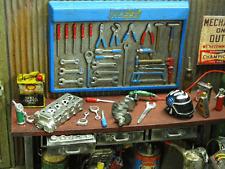 Werkzeug Wand Hammer Knarre Schlüssel Werkstat Garage Diorama Deko Zubehör 1/18
