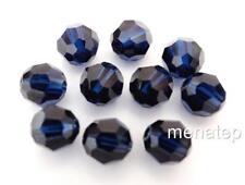 3 6 mm Swarovski 5000 Crystal Rounds: Dark Indigo
