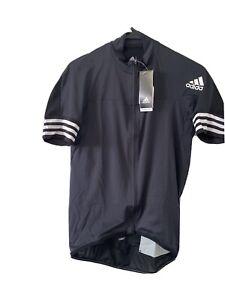 NWT Adidas Adistar Maillot Cycling Form Fitting Jersey Black CV7089 Men's Sz L