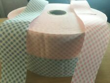 """100% COTTON BIAS  TAPE 1  1/2"""" WIDE 50 YARDS OR 100 YARD ROLL GINGHAM CHECK"""