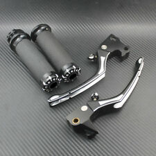 1'' Hand Grips Handlebar + Brake Clutch Lever Fit For Harley Sportster XL 04-13