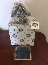 New listing New Blue Sky Clayworks 2000 Heather Goldminc Tealight Window Box Cottage Retired