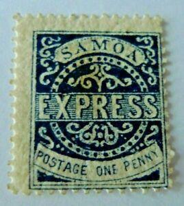 SAMOA OLD STAMP SCOTT # 1 MH CAT $ 37.50
