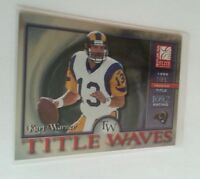 2001 Donruss Elite Kurt Warner Title Waves Insert Card #TW-1 S# /1999 HOF Legend